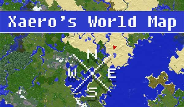 Mapa del mundo de Xaero 1.17.1