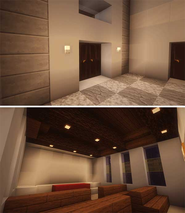 Imagen compuesta donde podemos ver algunos ejemplos de las nuevas luces que podemos utilizar con el mod Additional Lights 1.17.1.