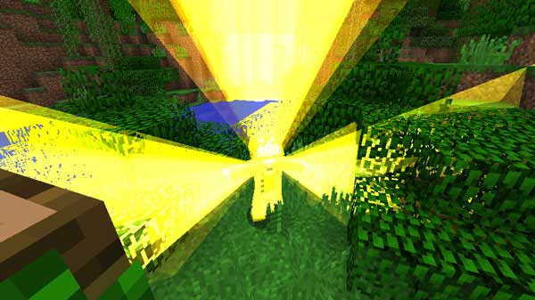 Imagen donde podemos ver un jugador utilizando la función de regeneración que ofrece el mod Regeneration 1.17.1.