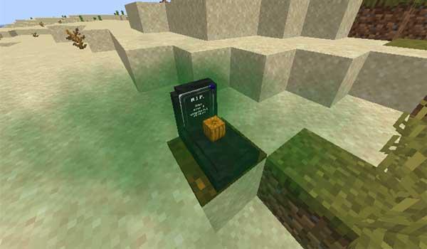 Imagen donde podemos ver un ejemplo de una de las tumbas que generará el mod Simple Tomb 1.17.1.