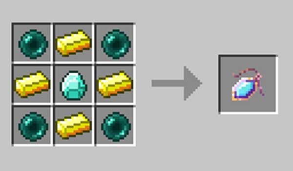 Imagen donde podemos ver cómo se fabrica el objeto que nos ofrece el mod Recall 1.17.1.
